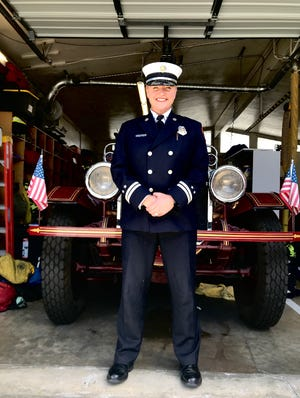 Fire Capt. Heather Marques of the Alameda County Fire Department in the East Bay is a McCloud resident who sometimes volunteers her time with the community's fire department. She graduated in September 2021 from the Naval Postgraduate School in Monterey.