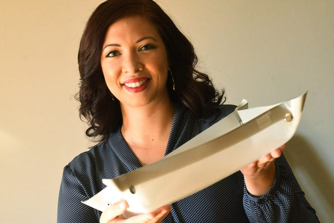 Leland resident Talia Afoa, who invented the leak-proof, easily cleanable Grand Fusion baking mat, just got the product on the market after six years of development. The mat can lay flat, or snaps can make it suitable for using on top of a baking pan.