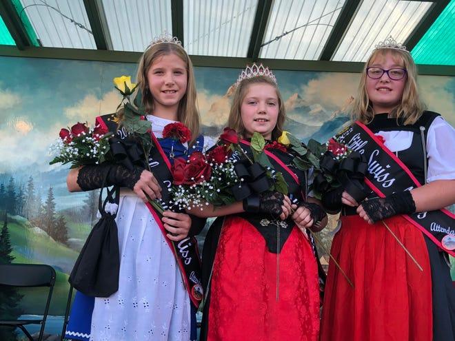 Little Swiss Miss 2020 Julia Hart (center) was crowned Little Swiss Miss 2020. Ava Regula (left) and Kayla Mullet are attendants.