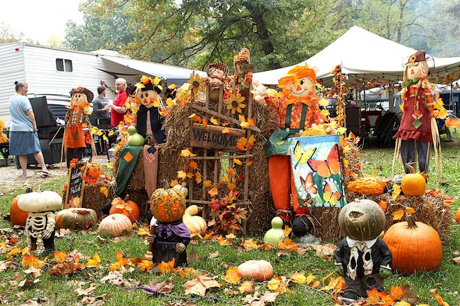 This fall display was created by camper Cindy Amstutz-Terry