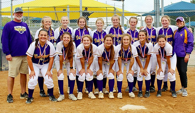The Watertown Arrows girls fastpitch softball team  concluded a 16-19-1 season by compiling a 3-2 record and placing fourth out of 13 teams Friday and Saturday in the state Class A high school tournament at Sherman Park in Sioux Falls. Team members include, from left in front, Alayna Dettman, Kaelyn Melville, Lilly Pressler, Brooklyn Gronau, Audri Wadsworth, Adysen Huyvaert and Hannah Leverson; and back, head coach Travis Young, Payton Carroll, Kinsley Van Gilder, Jada Brown, Allison Stark, Jade Lund, Avery Palmquist, Sarita Stevenson, Aleia Johnston and assistant coach Elli Stevenson.