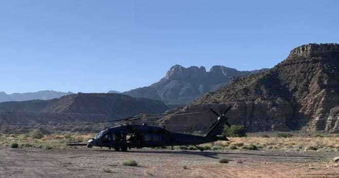 A man who was lost inside Zion National Park for most of the last week was rescued and taken by helicopter to a local hospital on Saturday.