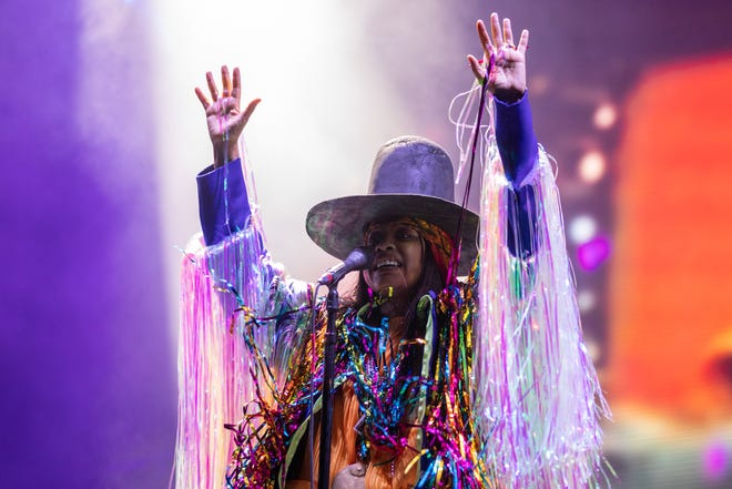 Erykah Badu performs at the Austin City Limits Music Festival on Sunday October 3, 2021 (Robert Hein for American-Statesman)