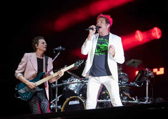 Simon Le Bon, right, and John Taylor of Duran Duran perform at the Austin City Limits Music Festival in Zilker Park on Sunday.