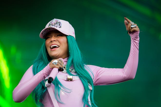Colombian singer and songwriter Karol G. performs Sunday, Oct. 3, 2021, during the Austin City Limits Music Festival.