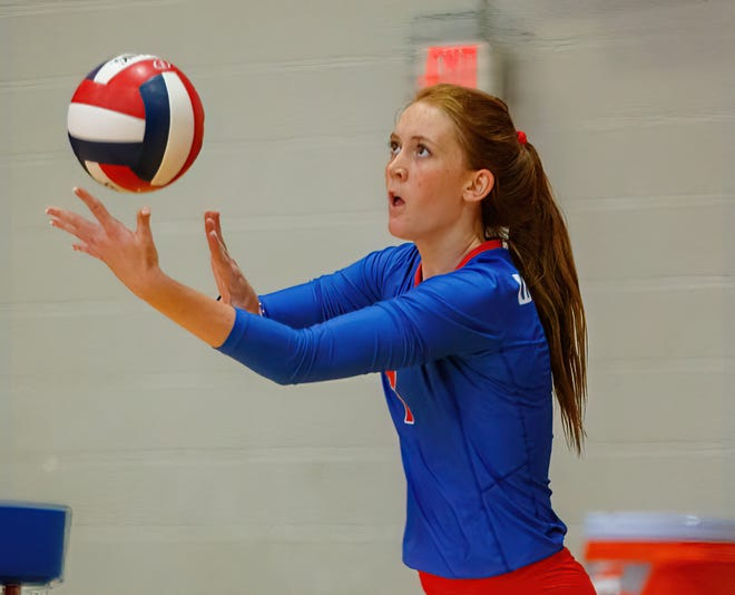 Westlake's Lily Davis had 14 kills in the Chaps' five-set win over San Marcos Friday. With the victory, Westlake moved into third place in the District 26-6A race after the first round of district play.