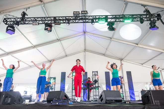 TC Superstar performs at the Austin City Limits Music Festival on Sunday October 3, 2021 (Robert Hein for American-Statesman)