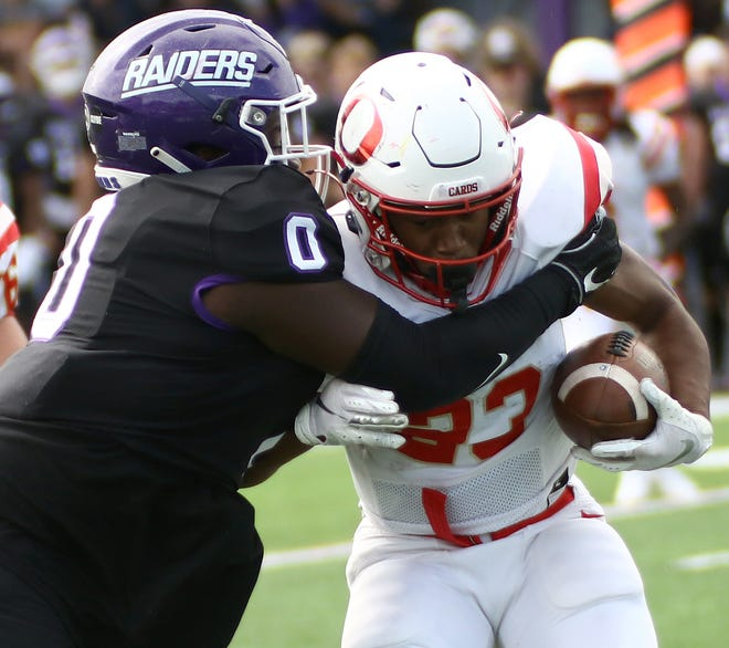 Duke Hill (0) is one of the top players on a Mount Union defense that leads Division III in scoring defense.