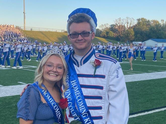 Lake High School's homecoming queen, Peyton Burns, left, and king, Robert Schrembeck, took part in a recent community parade and were introduced at other events.