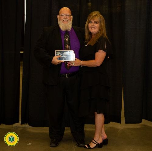 Former Butler County Community College EMS department chair Jeb Buress wins prestigious educator of the year award presented by KEMSA.