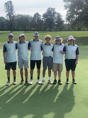 Geneseo golfers finished second out of eight teams at the recent Regional competition held in Kewanee. The golfers are, from left, Samuel Robinson, Hayden Moore, Thomas Henson, Tayt Hager, Mason Steinert and Bryson VanHoutte.