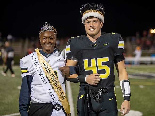 """Taaliyha Whitsett and Hunter DeVena were announced as Galesburg High School Homecoming queen and king Friday at the homecoming game. Others on the homecoming court wereAbby Davidson and John Rehn, Sophie Edwards and Alex Baughman, Cela Lopez and Luca Gomez and Julia Tracy and Eric Pio. The homecoming theme was """"Under the Stars,"""" and the dance was held Saturday night outdoors on the grounds next to the fieldhouse."""