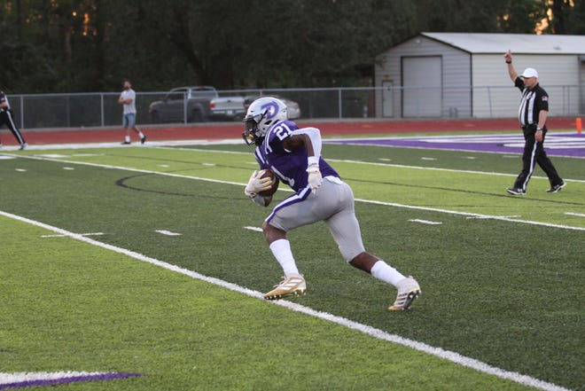 Dylan Sampson is now the Dutchtown career rushing leader with 4,300 yards.