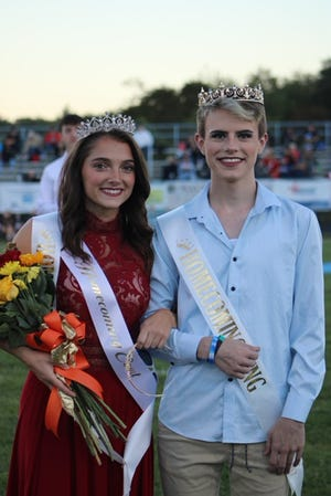 Natalie Watson and Dylan Dolly were crowned Homecoming Queen and King Friday during halftime of the Frankfort-Mountain Ridge game.