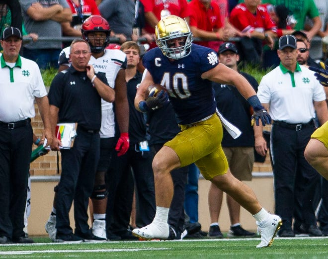 Notre Dame captain Drew White has been a difference maker the last two weeks. Can he make it three Saturday at Virginia Tech?
