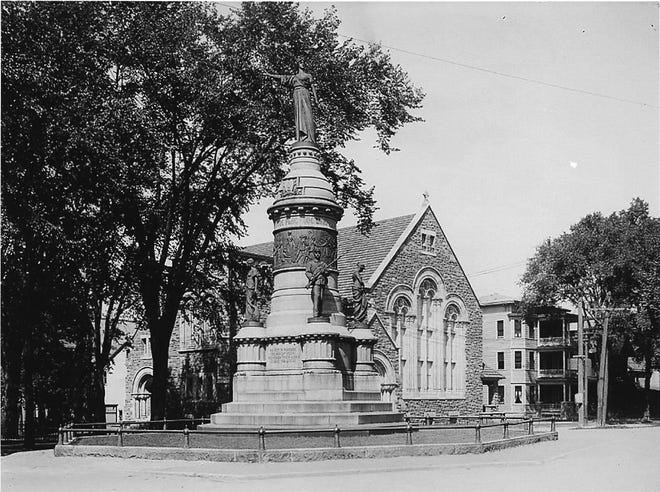 This week 130 years ago — on Oct. 13, 1891 — the Soldiers' and Sailors' Monument on Oneida Square in Utica was unveiled and dedicated to the memory of those in Oneida and Herkimer counties who fought in the Civil War. Three years earlier, Uticans had voted to tax themselves $15,000 to reach the $32,000 needed to complete the project. That included the hiring of noted sculptor Karl Gerhardt, of Hartford, Connecticut. He designed the monument with a female figure at the top pointing south to the many battlefields where hundreds of area boys in blue had died or were wounded.