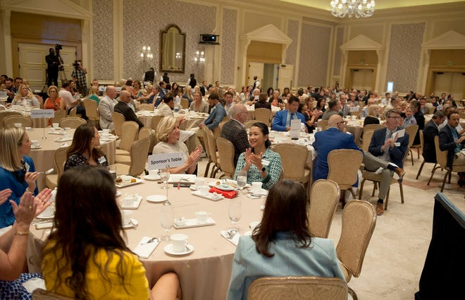 The first Palm Beach Chamber of Commerce membership meeting of the season was held Monday at The Breakers. The event drew 350 guests, and was the first in-person gathering of Chamber members since March 2020.