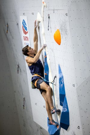 A.J. Flynn of Jupiter recently returned from the International Federation of Sport Climbing Youth World Championships, which took place in Voronezh, Russia. He trains at The Edge Rock Gym in Melbourne.