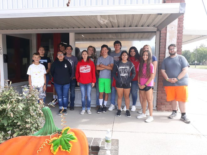 Macksville High School students spent time recently working at the Stafford County Museum as part of an FCCLA community service effort.