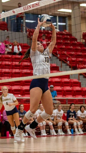 Stephenville setter Jaylee Matthews tallied 29 assists and 15 digs for the Honeybees.