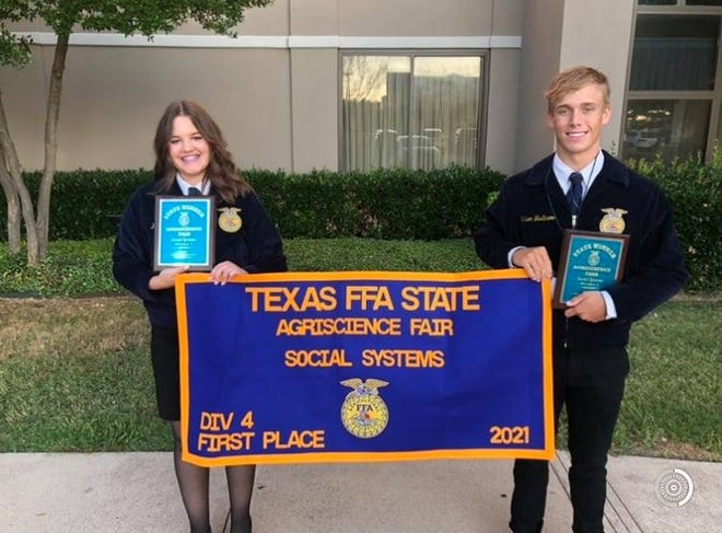 Top 3 National Agriscience Fair Results have been announced and Stephenville FFA's Kirsten Cline and Hudson Westbrook were named among the top 3 in the Social Systems Division IV. They will find out the final three placings in Indianapolis later this month.