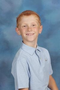 Andrew O'Reilly of Topsail Elementary is Pender County Schools' Student of the Week.