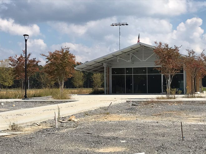 There is no sign of work at the Etowah County Mega Sports Complex, while the sports authority negotiates to resolve financial issues.