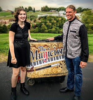 Emma and TJ Marlatt, the Mugicians, will perform at Alley Cats Marketplace on Oct. 17 during Art on the Alley in downtown New Philadelphia.