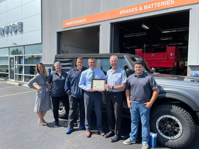 Watertown Ford recently received the Angel Flight NE's Outstanding Partnership Award for its commitment of providing essential ground crew services to support patients and families in need.