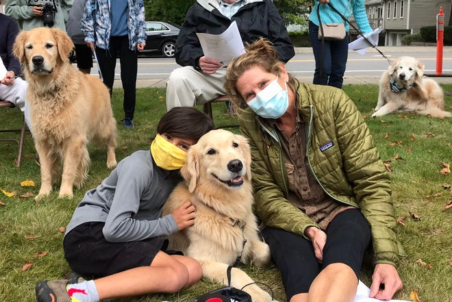 Jack Baker and Martha Spears loved sharing the St. Andrew's Blessing of the Animals service with their best buddy Lyaf.