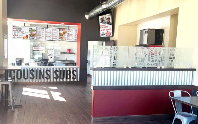 Previously a ghost kitchen that offered delivery only, the Cousins Subs location at 117 W. National Ave. now has seats for dining and pickup of takeout orders.