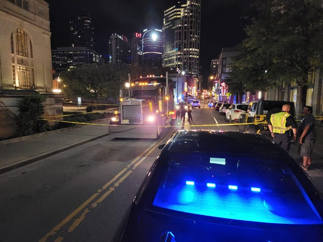 A 54-year-old Texas woman is dead after losing control of a Lime scooter in downtown Nashville and colliding with a semi truck, police said.