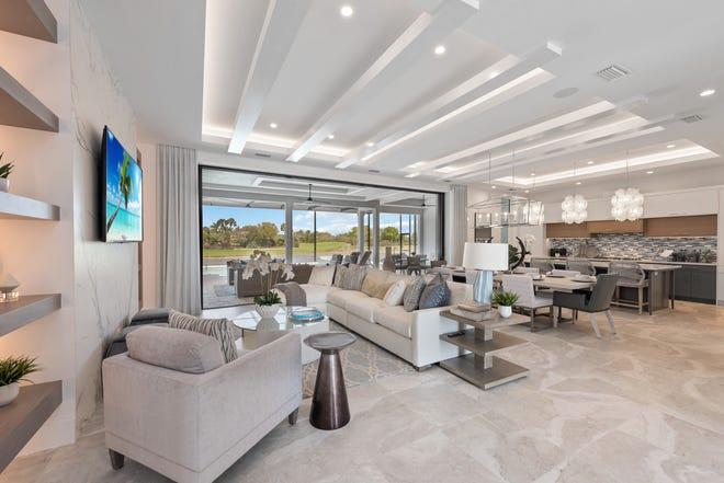 Imperial Homes of Naples' award-winning Domenica II model in Peninsula Treviso Bay has a very open floor plan.
