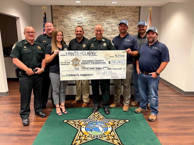 Escambia County Sheriff's Foundation receives $10,000 boost from Hanto & Clarke.