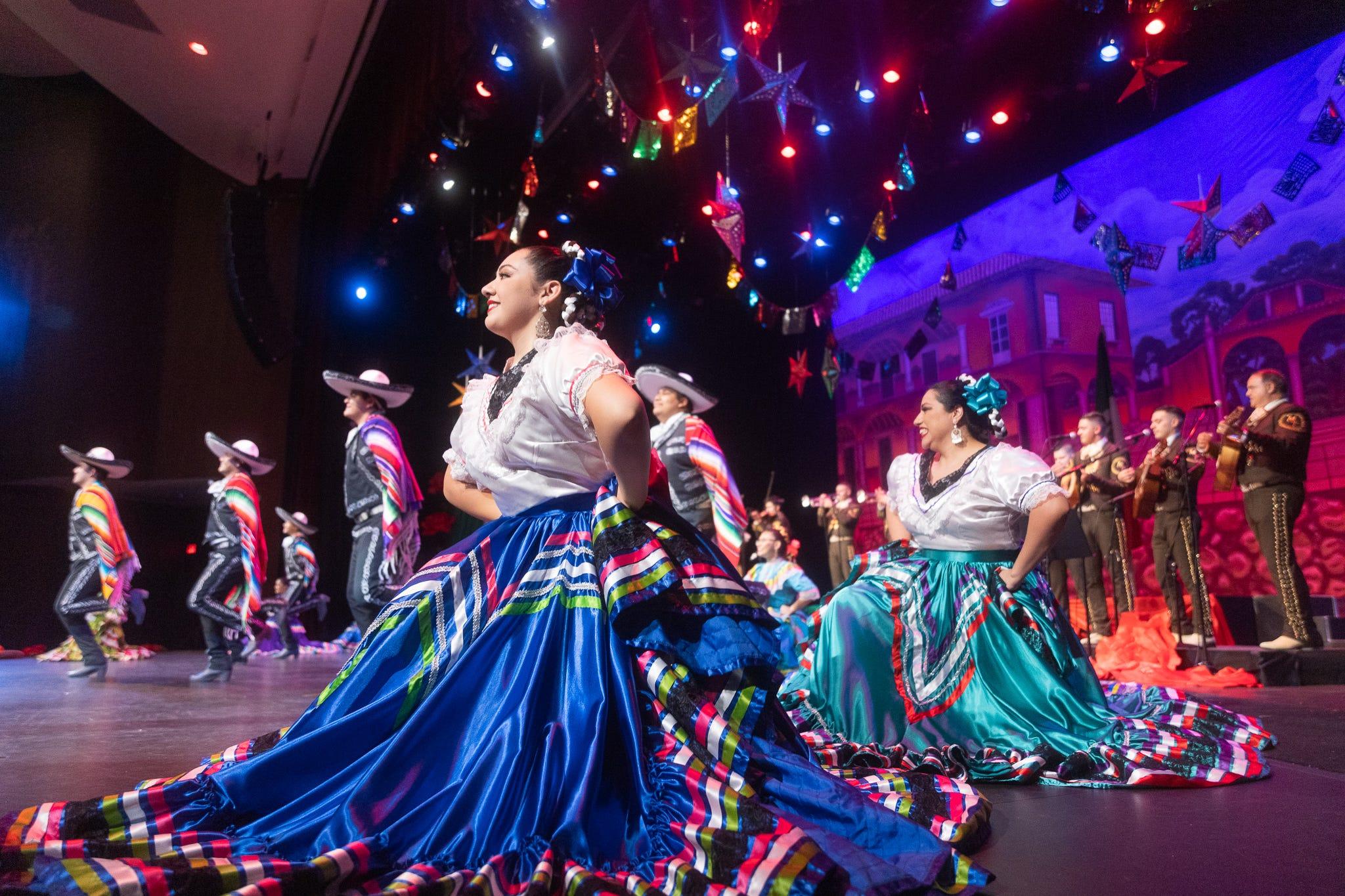 The 22nd Annual Mariachi & Folklórico Festival, ballet folklórico dancers danced alongside a mariachi group at the Chandler Center for the Arts.