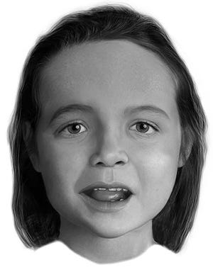 """The facial reconstruction of an unidientified girl known as """"Madisonville Jane Doe"""" whose remains were found in Texas on Sept. 17, 2016."""