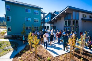 Attendees check out new affordable units at a Lake Tahoe-Truckee workforce housing event on Oct. 1.