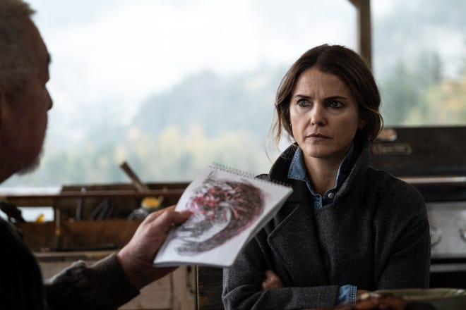 """Keri Russell as Oregon Middle-School Teacher is looking at the dark ancestral creature in the thriller """"Antlers."""""""