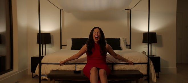 """Kate Siegel plays a woman who needs the help of hypnotism sessions too much in """"hypnosis""""."""