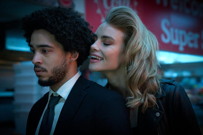 """George Lengeborg Jr. plays a college student who runs a couple of vampires (including Lucy Fry) on """"Night Teeth."""""""
