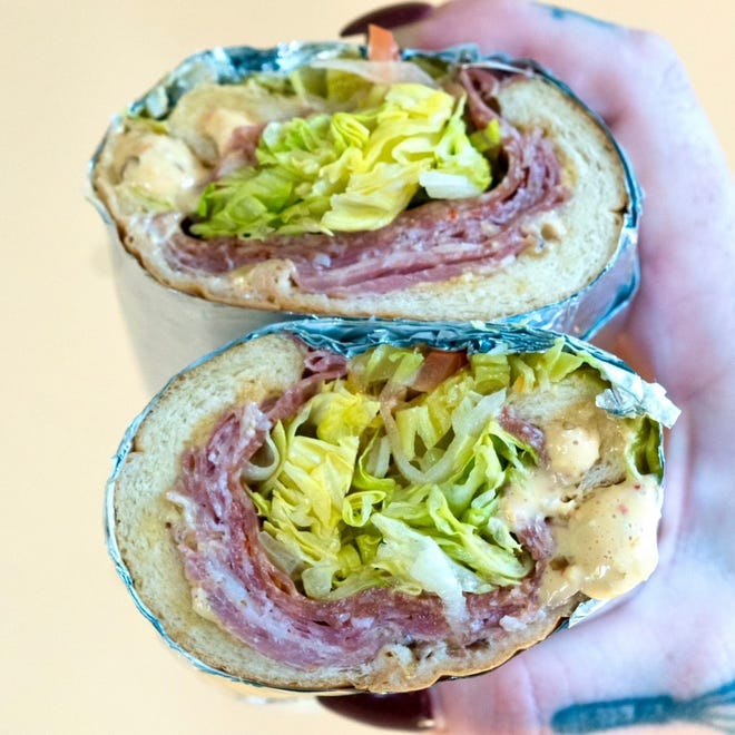 The Italian hoagie from Destroyer Sandwiches has three kinds of cured meat and pepperoncini aioli.