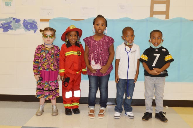 Participating in Louisville Academy's Career Day fun during Georgia PreK Week were students from Shana Sims' class: Maggie Adams, Kanzis Hill, Londyn Jackson, Bryce Strowbridge and Jayce Whigham.