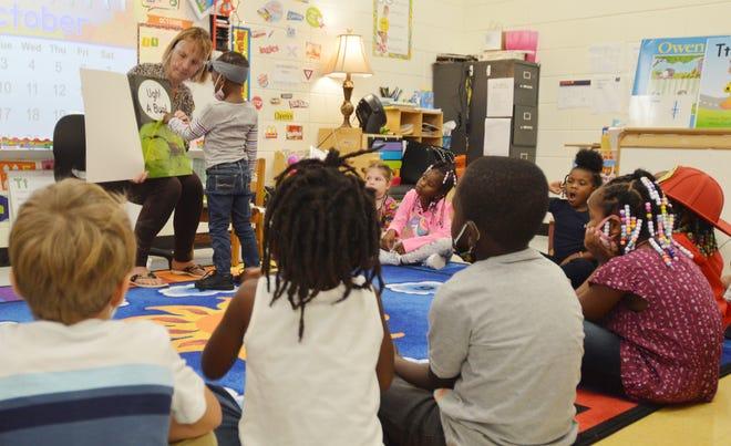Betsy Milburn was one of many community readers who visited PreK classes at Louisville Academy last week in celebration of Georgia PreK Week.