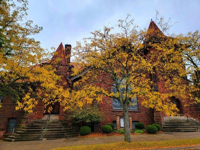 Odeta Burkhart, a member of the Barnesville, Ohio Liar's Bench Facebook group, shared this post-pumpkin festival photo she framed of the historic c.1903 First Presbyterian Church of Barnesville.