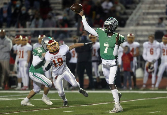 Dublin Scioto's Amare Jenkins set a pair of program records in a 71-0 win over Franklin Heights on Oct. 1.