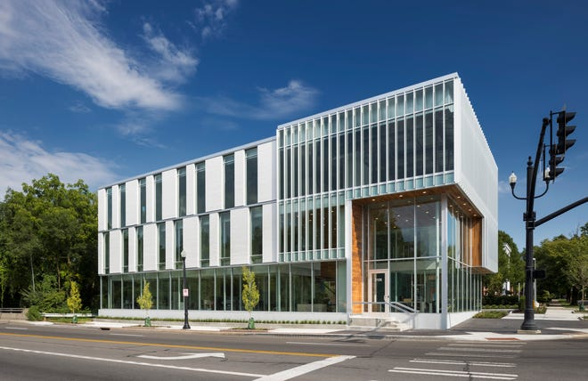 The Ohio State Bank building by JBAD received an honor award in the large project category from the Columbus chapter of the American Institute of Architects.
