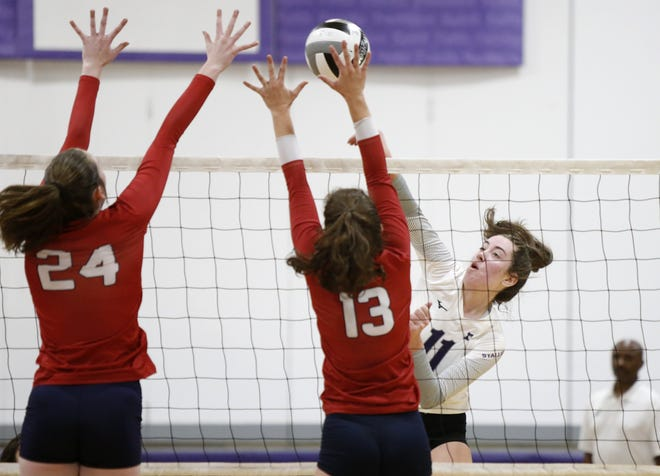 Despite a position switch, Morgan Tydings has been one of the top contributors for the DeSales girls volleyball team. The senior had 140 kills, 15 aces and 89 digs through 20 matches.