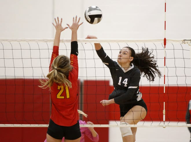 Giulia Viglietta, a 5-foot-10 senior outside hitter, said playing beach volleyball during the summer has helped her become a better player for Bexley. For the third season in a row, she leads the Lions in kills.