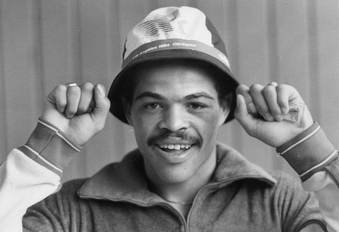 Columbus boxer Jerry Page won the Olympic gold medal in the light welterweight (139 pounds) division at the 1984 Summer Games in Los Angeles. The Linden McKinley High School graduate began boxing at age 7 at the Windsor Terrace Recreation Center and won a national Golden Gloves championship. Page turned professional in 1985 and won his first eight fights. He retired in 1990 with an 11-4 record. Page has remained a community leader in Columbus and continues to coach boxing at Beatty Recreation Center.