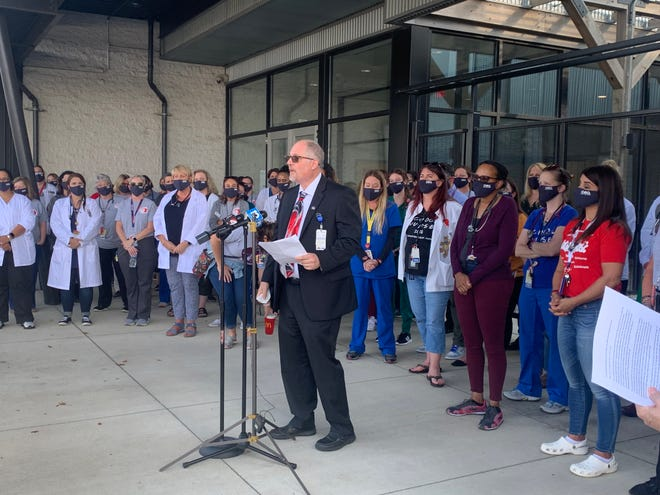 The Columbus Education Association (CEA), the district's union, held a news conference Tuesday afternoon before the district's Board of Education meeting.